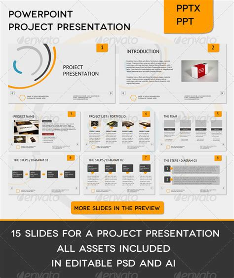 powerpoint template extension corporate project presentation graphicriver