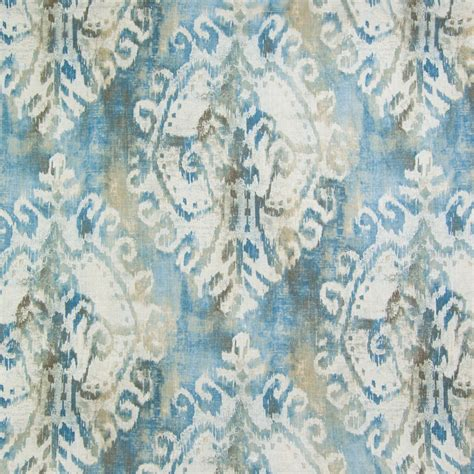 watercolor upholstery fabric nile blue ikat prints upholstery fabric