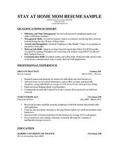 stay at home resume sle a stay at home resume sle for parents with only a