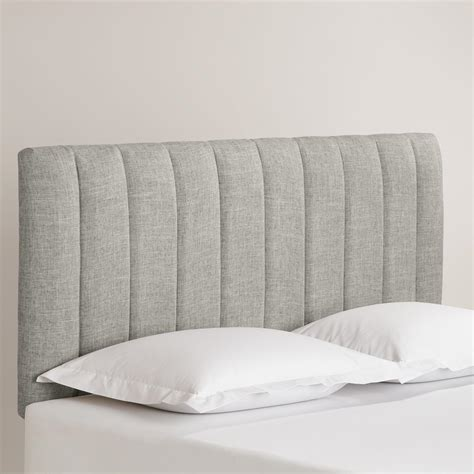 linen headboard linen reilly upholstered headboard world market