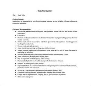 11 cashier job description templates free sample