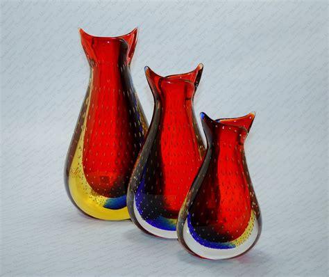 vasi vetro vasi in vetro di murano venezia rosso san marco 55 venezia