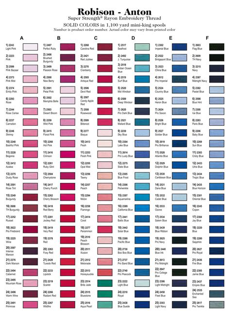 sulky embroidery thread color conversion chart pin embroidery thread color chart 3 on pinterest