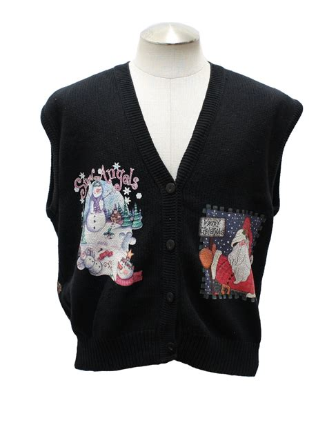 Sweater Keren Sweater Vest Keren Unisex Black Cotton