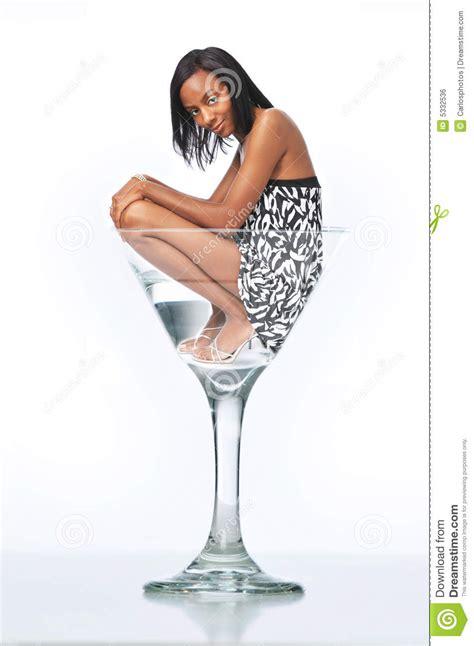 martini woman young woman in a martini glass stock photo image 5332536