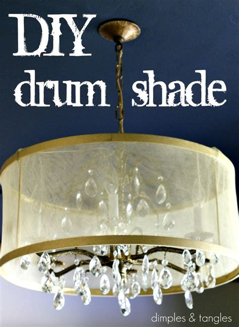 drum l shade tutorial i want to cover my ugly chandelier with a drum shade