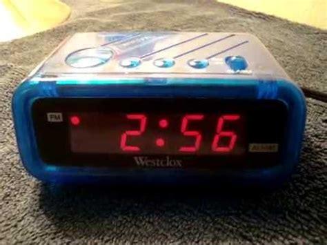 westclox model  digital alarm clock youtube