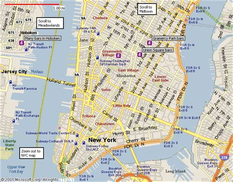 map of manhattan new york city new york map manhattan travelsfinders