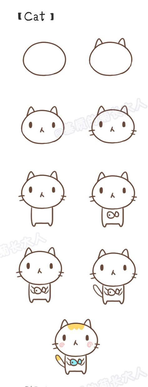how to draw doodle cat 1 25 best ideas about kawaii drawings on kawaii