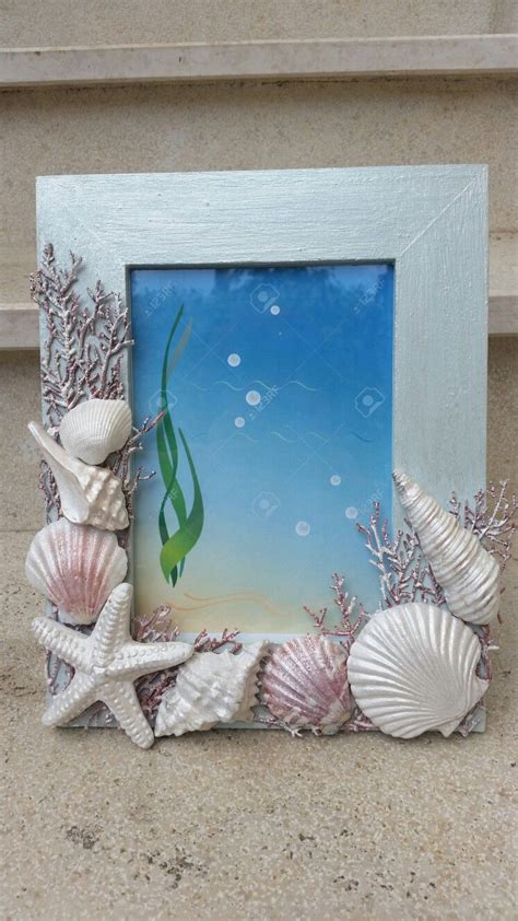 cornice conchiglie cornice con conchiglie shells seashell crafts
