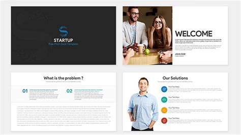 Startup Pitch Deck Free Powerpoint Template Powerpoint Template Startup Pitch