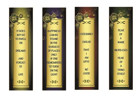 printable bookmarks harry potter free printables harry potter bookmarks bookmarks