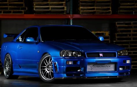 blue nissan skyline fast and furious wallpaper car nissan blue gt r r34 fast and furious