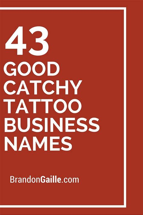Tattoo Business Name Ideas | 45 good catchy tattoo business names shops business