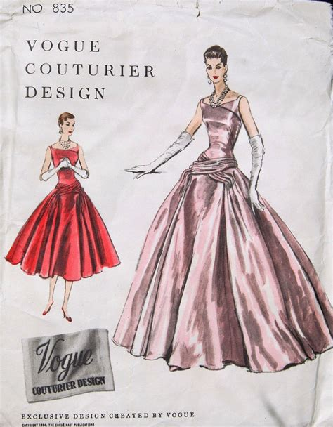 dress pattern vintage vogue 1954 vintage vogue sewing pattern b34 quot dress 1706 ebay