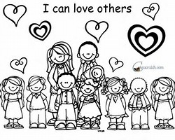 jesus said love one another coloring page free download