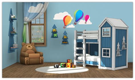 clubhouse bunk bed my sims 4 blog clubhouse bunk bed and shelf for toddlers by 13pumpkin