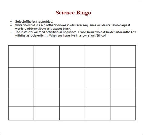 free bingo cards templates blank bingo card template microsoft word template design