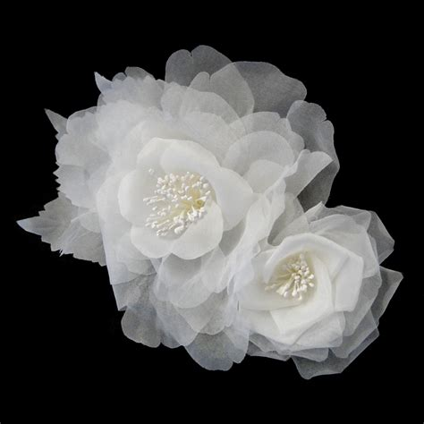 Wedding Flower Hair Comb bridal hair comb wedding hair flower augusta