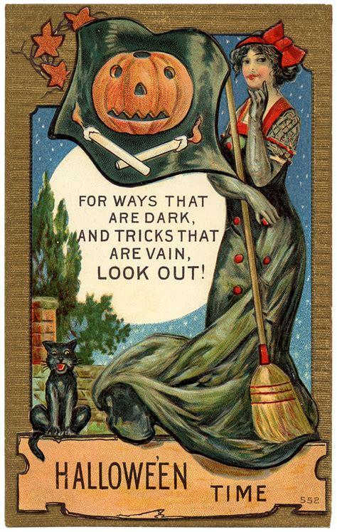 printable halloween vintage postcards vintage halloween postcard image the graphics fairy