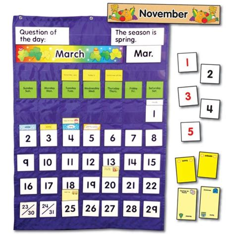 Calendar Weather 17 Best Images About Pocket Chart Ideas On