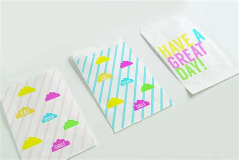 printable paper bags bright printable lunch bags a subtle revelry