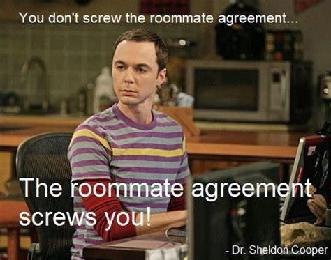 Housemate Meme - sheldon cooper roommate agreement