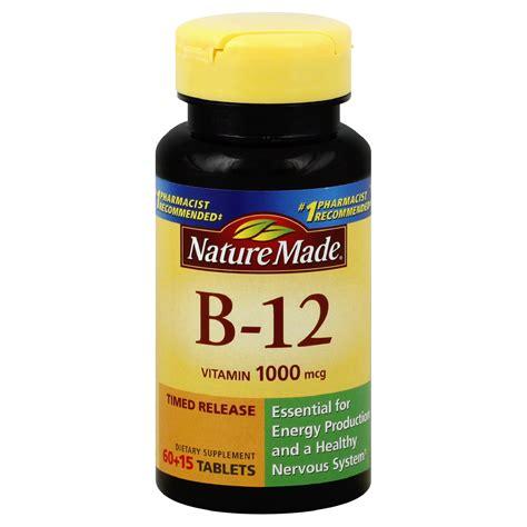 Vitamin Wellness nature made vitamin b 12 1000 mcg tablets 120 tablets health wellness vitamins