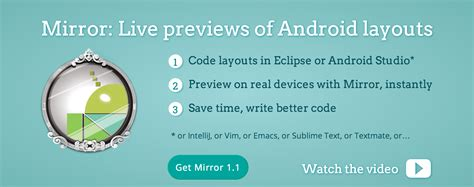 mirror player layout previews app for android mirror live permet d essayer ses layouts android