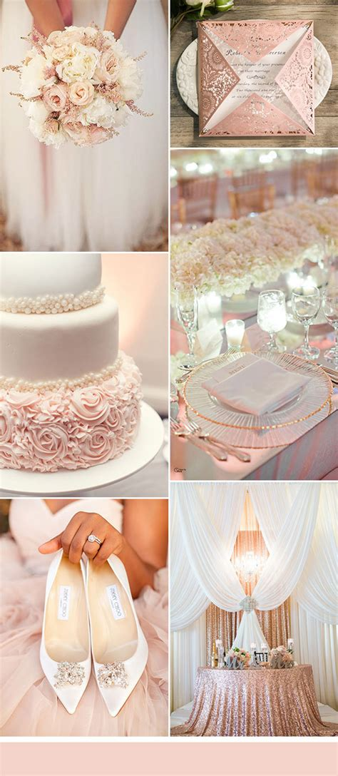 wedding color idea pink and grey white silver oooo now 50 brilliant ideas for glamorous and bling weddings