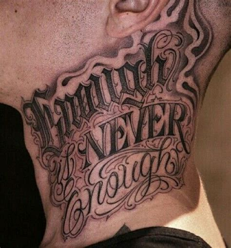 neck tattoo fonts chicano lettering pinteres