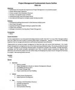 Course Development Template by Course Outline Template 15 Free Free Word Pdf