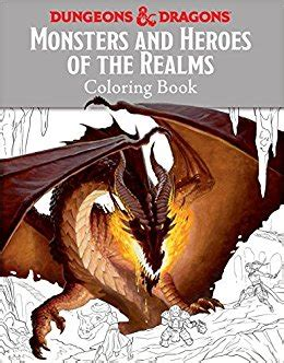 coloring book dragons volume 1 books monsters and heroes of the realms a dungeons dragons