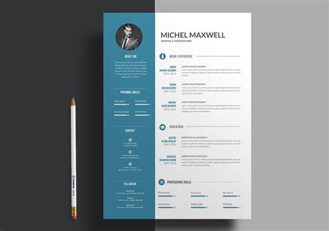 Designer Resumes by 20 Professional Ms Word Resume Templates With Simple Designs