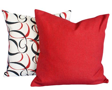 red couch with pillows solid red pillows decorative throw pillows by pillowthrowdecor