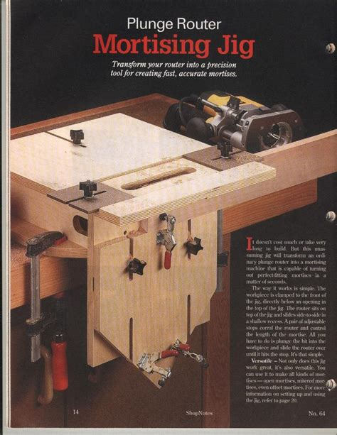 woodworking mortise mortising jig thread mortise and tenon fixture using