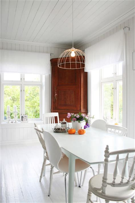 White Dining Room Houzz My White Scandinavian Home Splash Of Colors New