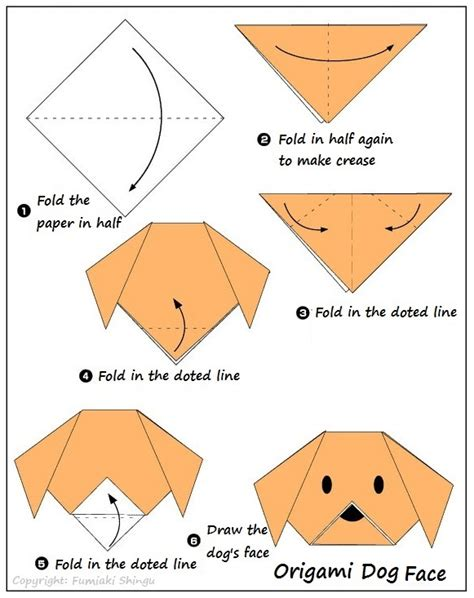 Origami Dogs - origami how to draw smart crafts