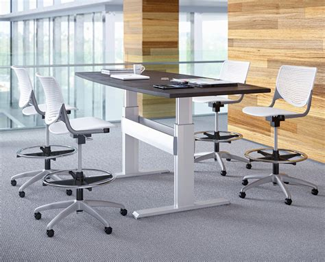 Adjustable Height Meeting Table Newheights Levante Conference Table By Rightangle Products