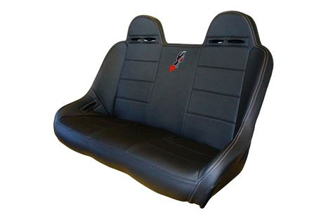 racing bench seats dragonfire racing rear bucket bench seat for polaris rzr