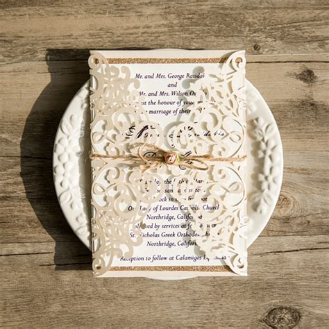Cheap Gold Wedding Invitations by Affordable Wedding Invitations With Free Response Cards At