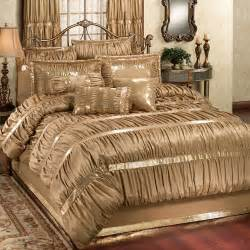 silk comforter set splendor shirred faux silk gold comforter bedding