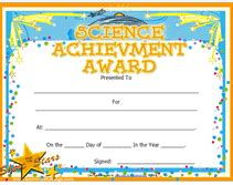 science award certificate template printable science achievement awards certificates