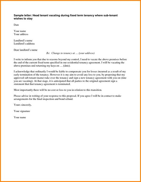 landlord termination of lease letter template 7 landlord termination of lease letter ledger paper
