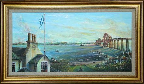 pictures of painting one of a series of paintings of harbours around edinburgh