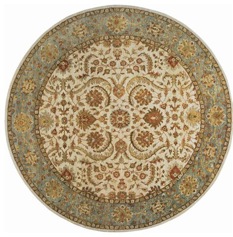 area rugs 8x8 rugsville ziegler beige light blue wool rug 10039 8x8 traditional area rugs by rugsville
