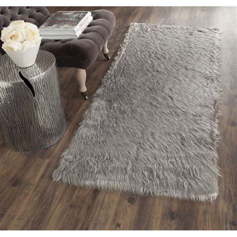Safavieh Faux Sheepskin Rug Safavieh Faux Sheep Skin Grey Shag Rug Runner 2 6 Quot X 6 Fss235d 26