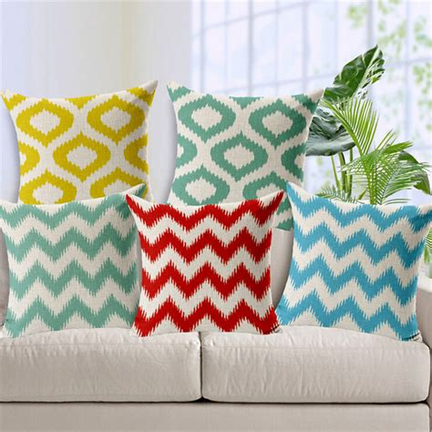 Cheap Throw Pillows For Sofa Aliexpress Buy Europe Cushion Covers Geometric Throw Pillow Covers Linen Cotton Plain