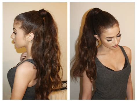 what hair extensions does grande use hair tutorial perfect pony and ariana grande inspired