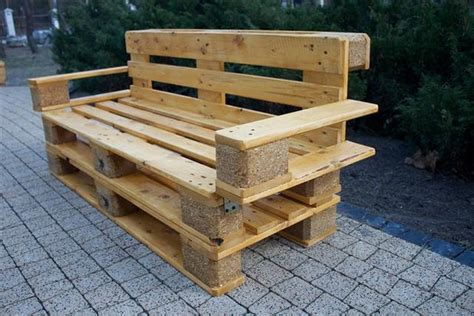 pallet benches wooden pallet sitting bench plans pallet wood projects